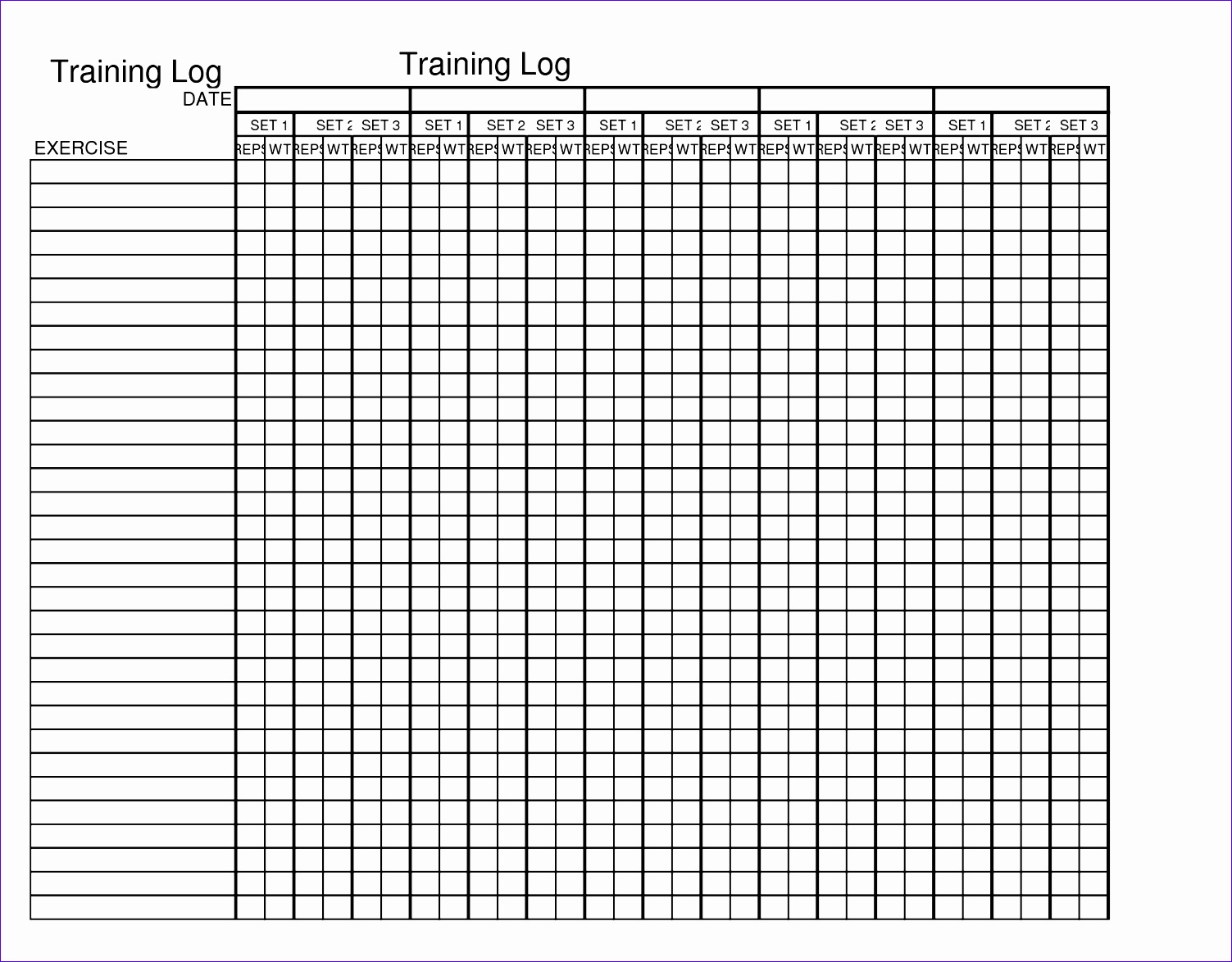 excel weekly workout template 15031174