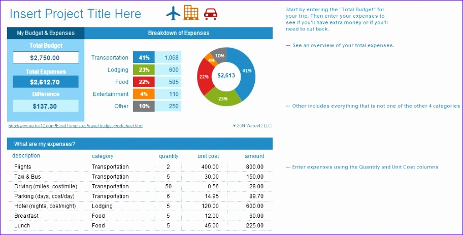 travel bud template pdf word and excel 912463