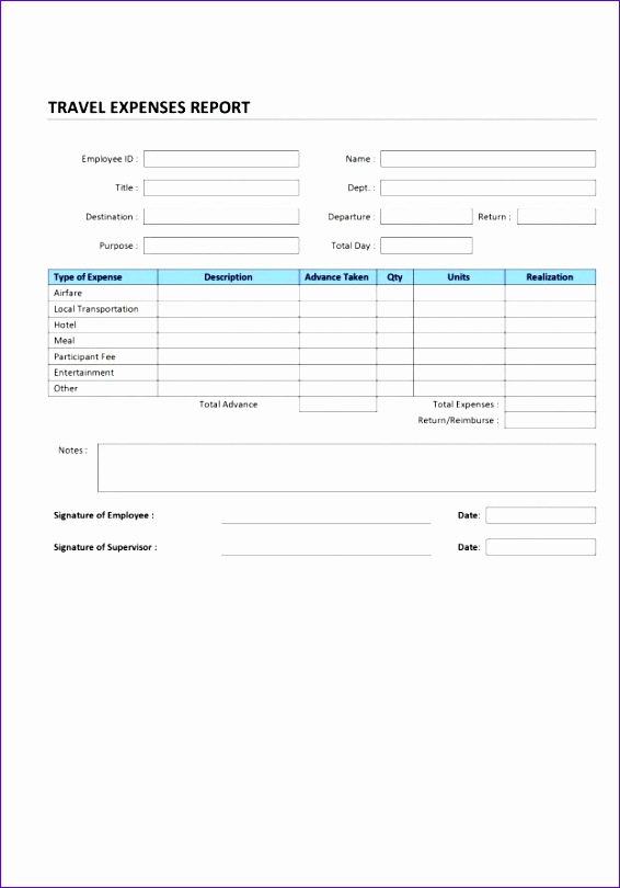 detailed expense report template 566810