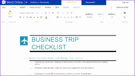 business trip checklist maker for microsoft word 527298