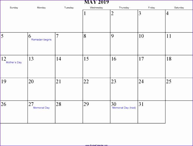 may 2019 calendar 662501