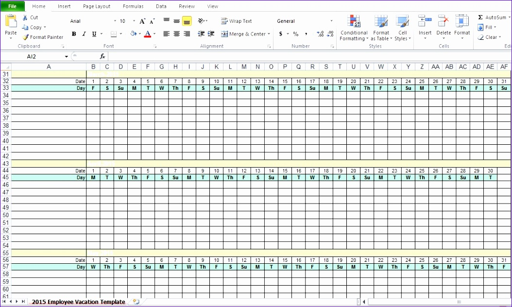 employee vacation tracking excel template 2015 1054632