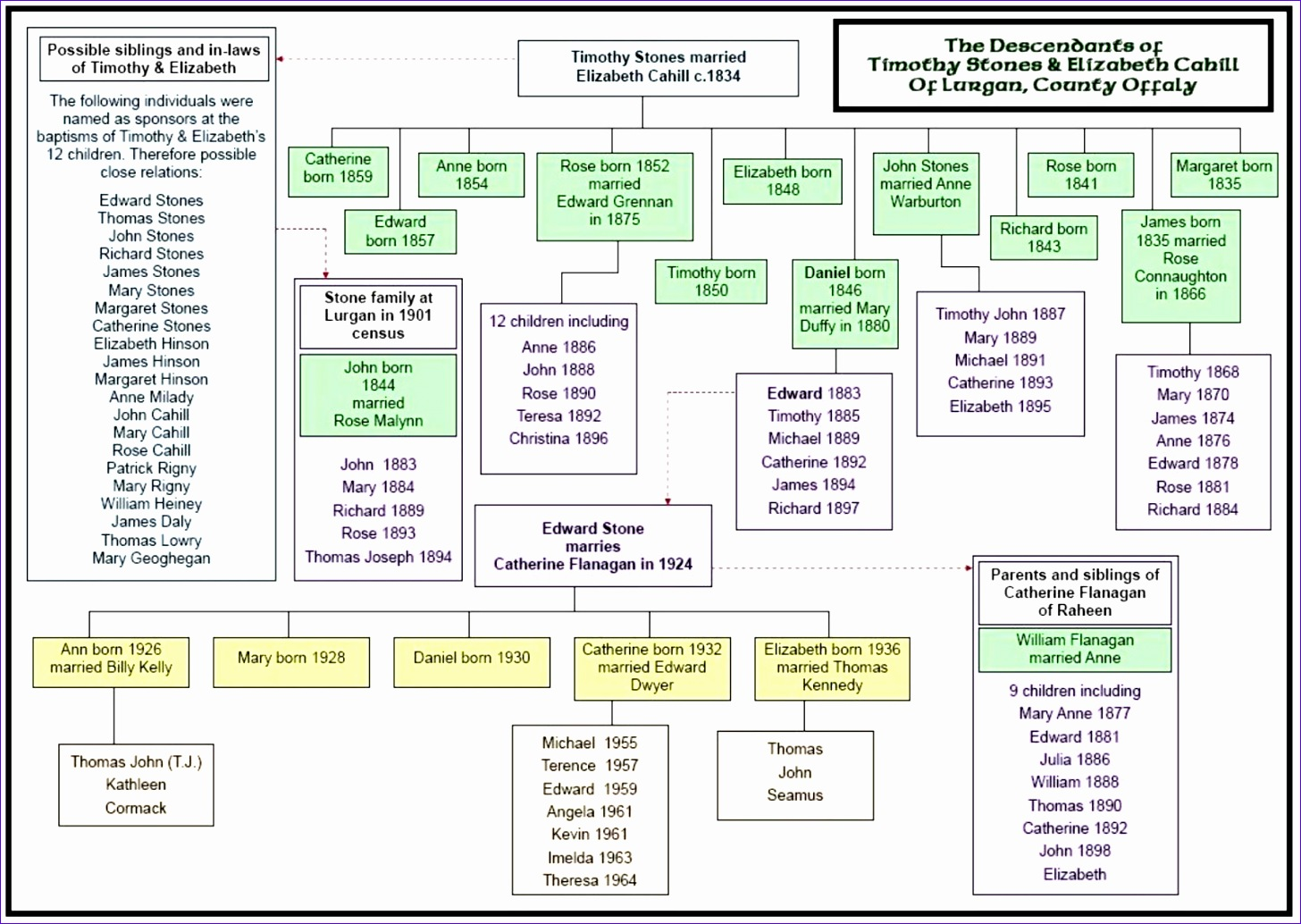stones of lurgan family tree chart