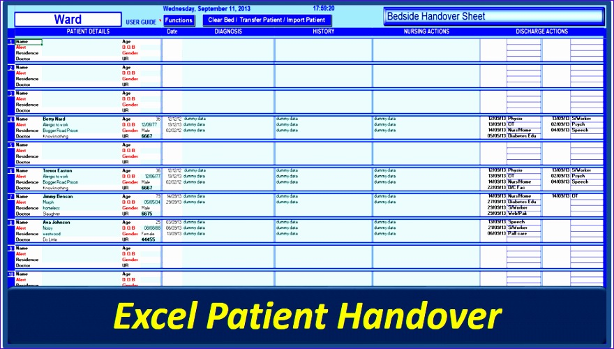 shift handover template excel 806 880500