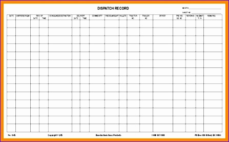 vehicle log book template excel oiudw new dispatch record 17 x 22