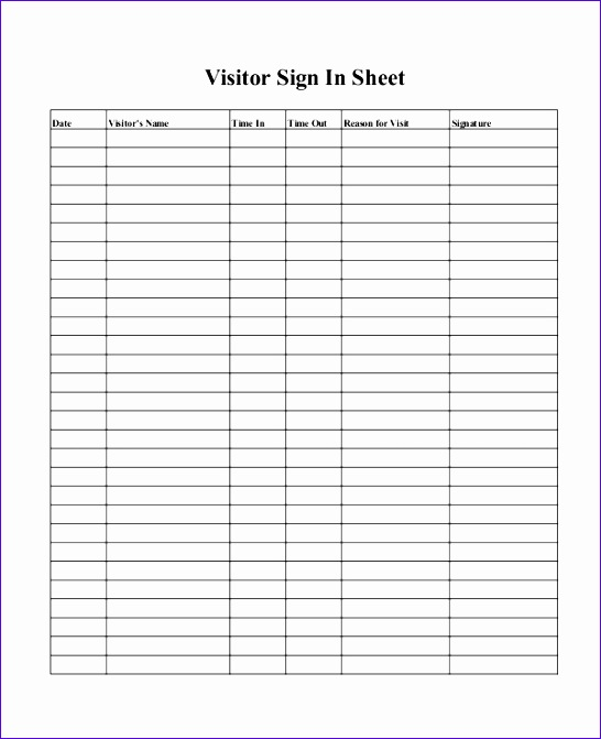 printable sign in sheet templates 546671