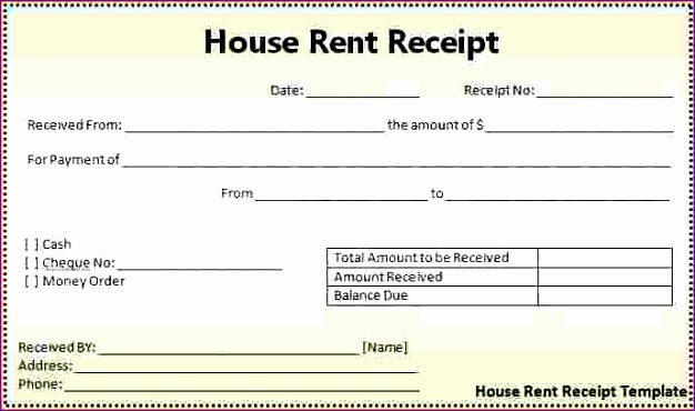 4 sample rent receipt 626370