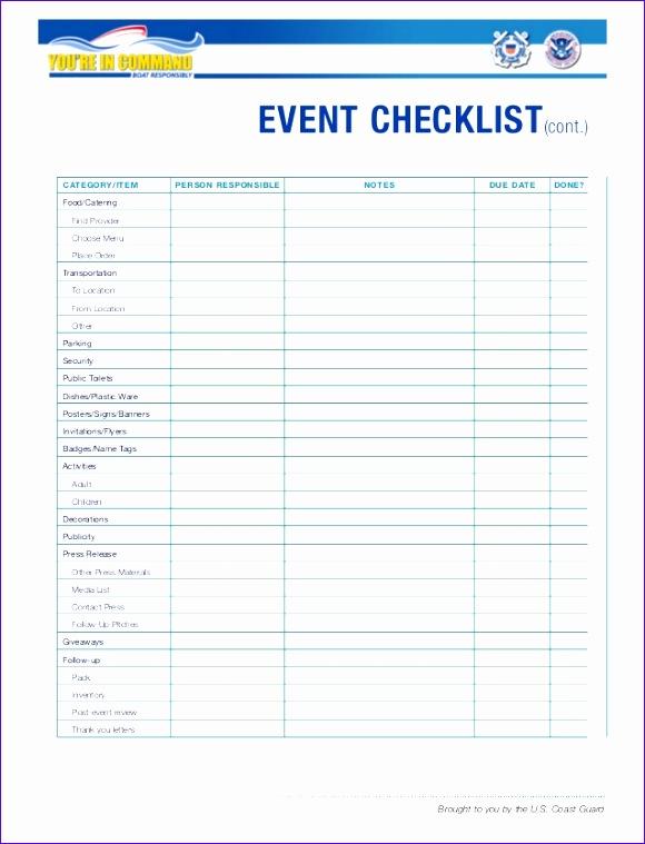 event checklist 580759