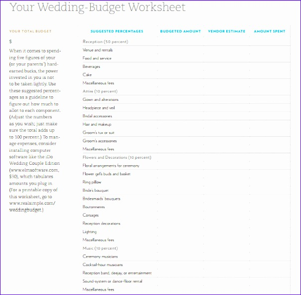 wedding bud planning sheet template 604591