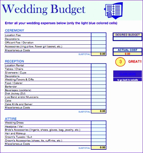 Wedding Budget Template Excel  Exceltemplates  Exceltemplates