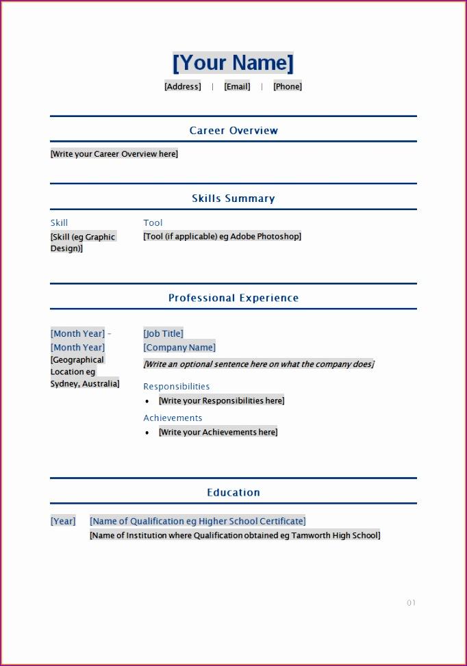 10 resume template 2 682973