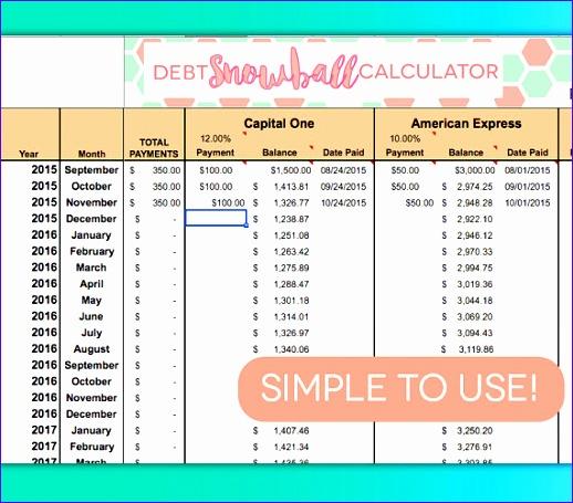 debt payoff spreadsheet debt snowball 518455