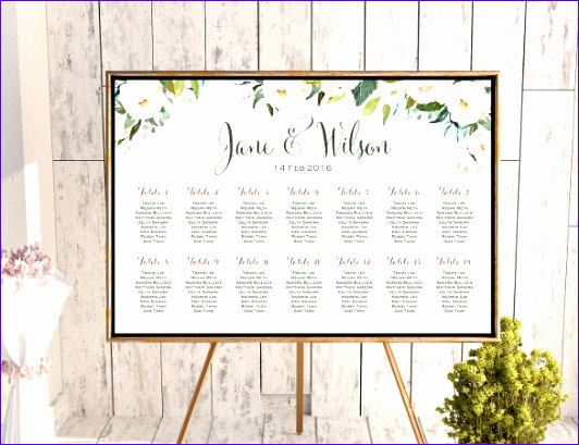 wedding seating chart template 532409