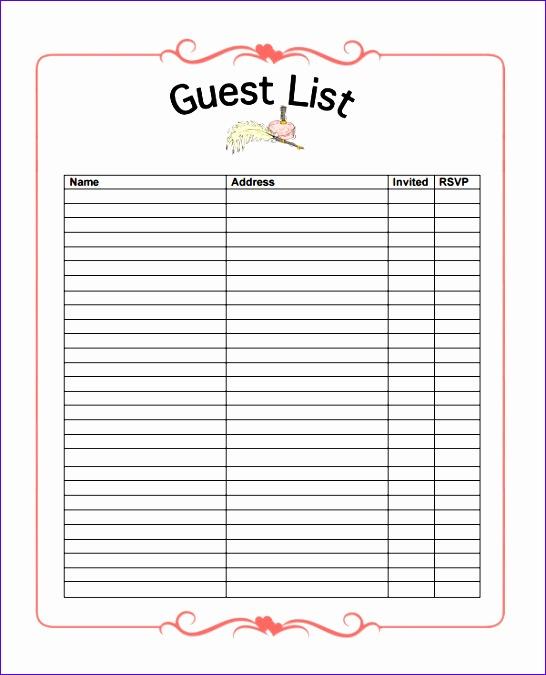 guest list templates 730 546675