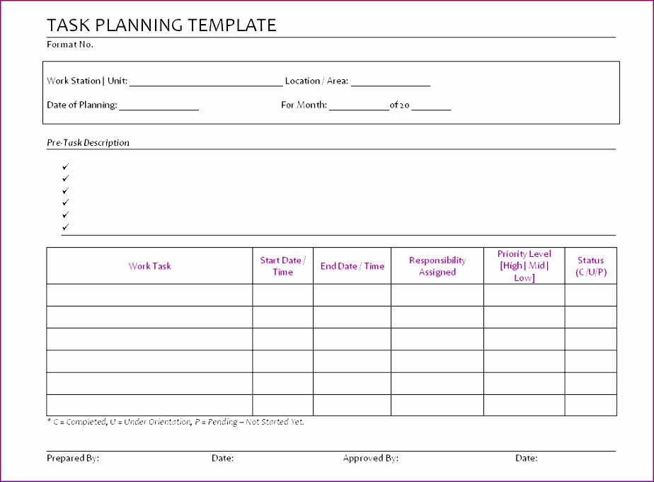 6 daily task list template 924681