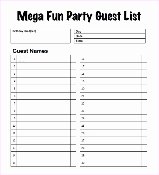 11 Wedding Guest List Template Excel - ExcelTemplates ...