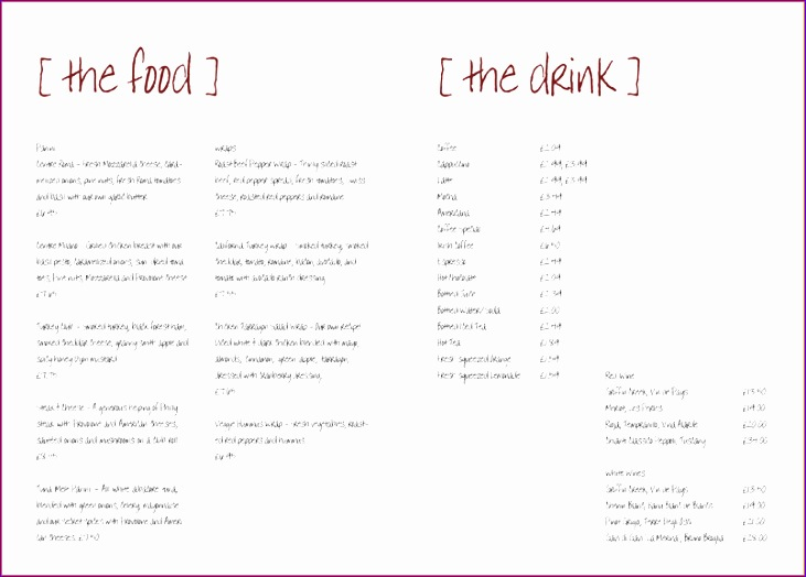 5 free restaurant menu templates