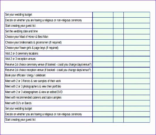 Wedding Plan Template Excel Ugnho Inspirational Wedding Planning