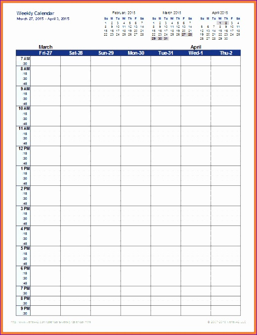 weekly schedule template excel 520676