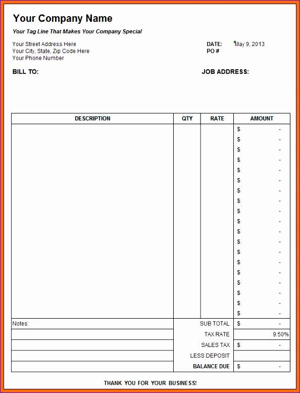 7 contractor estimate template 594777