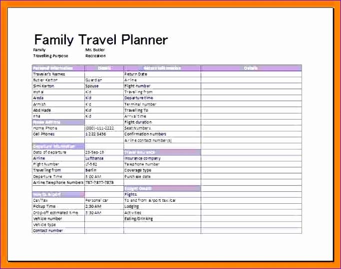 8 travel schedule templates 683540