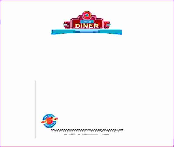 6 diner menu template