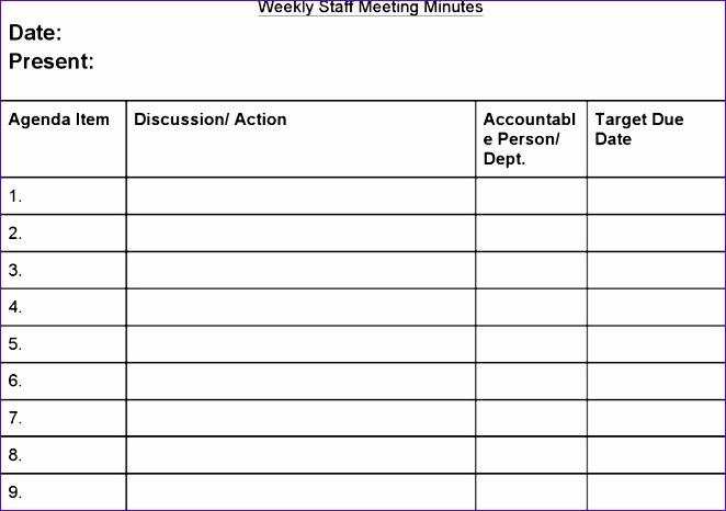 staff meeting agenda template 662466