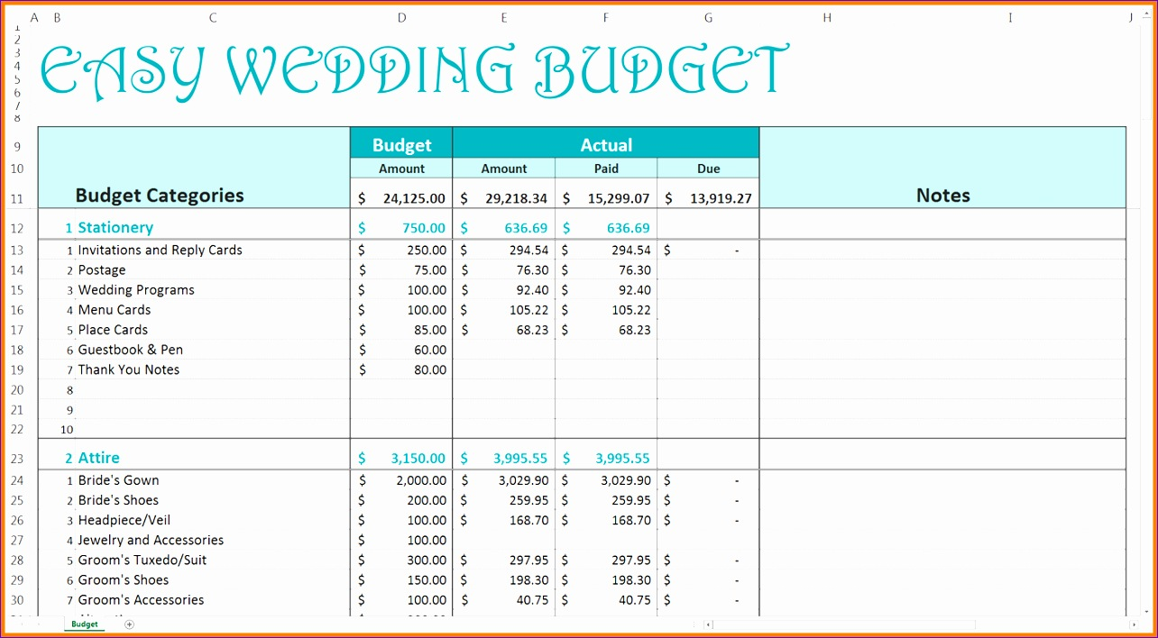 5 wedding planning excel templates 1284708
