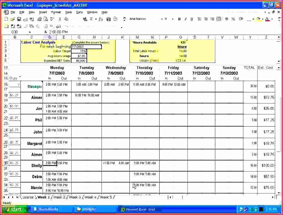 excel weekly schedule template 942717