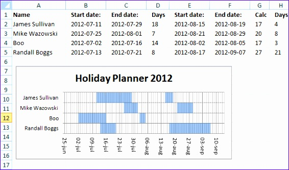 holiday planner template 566333
