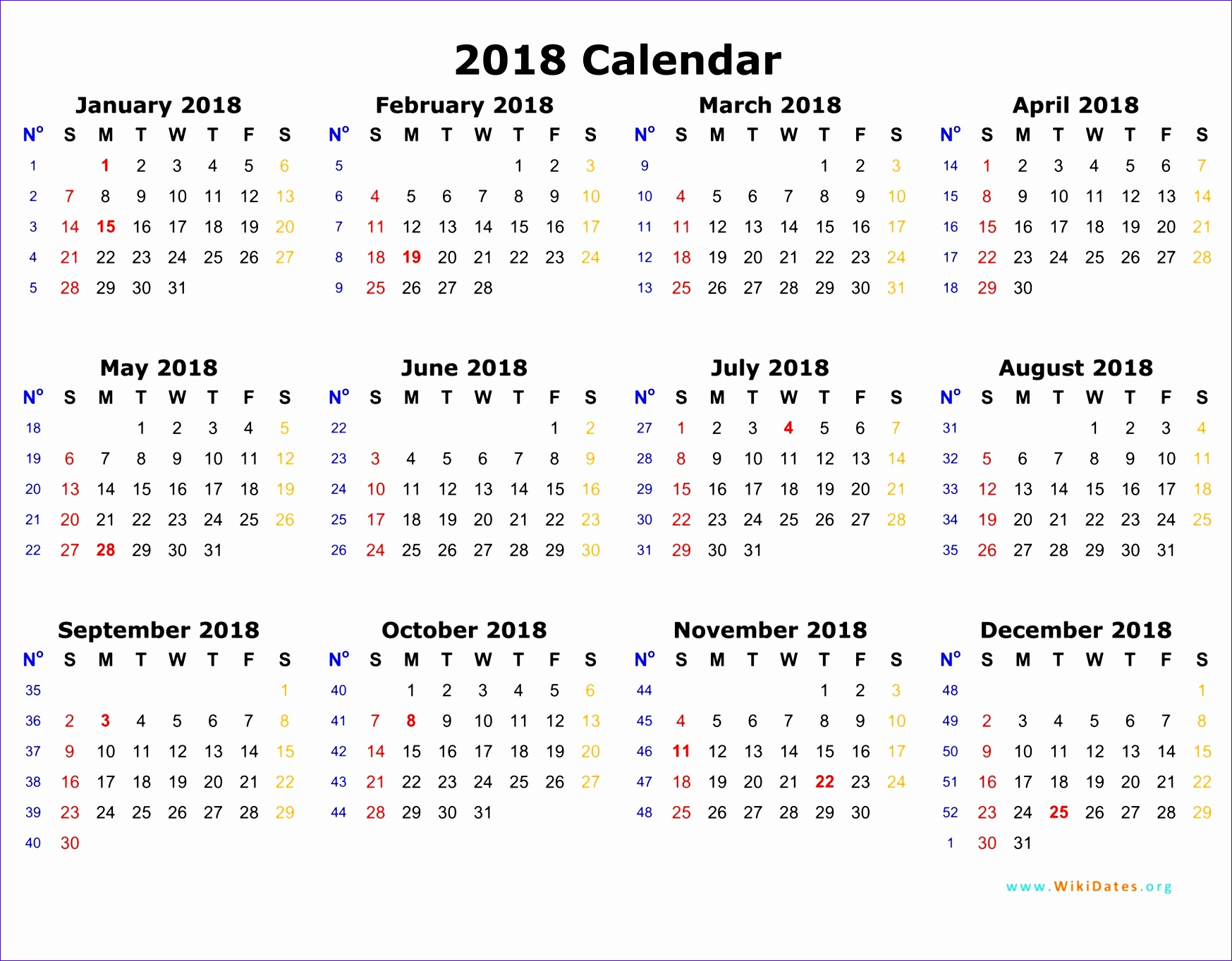 weekly calendar 2018 1776 17471364