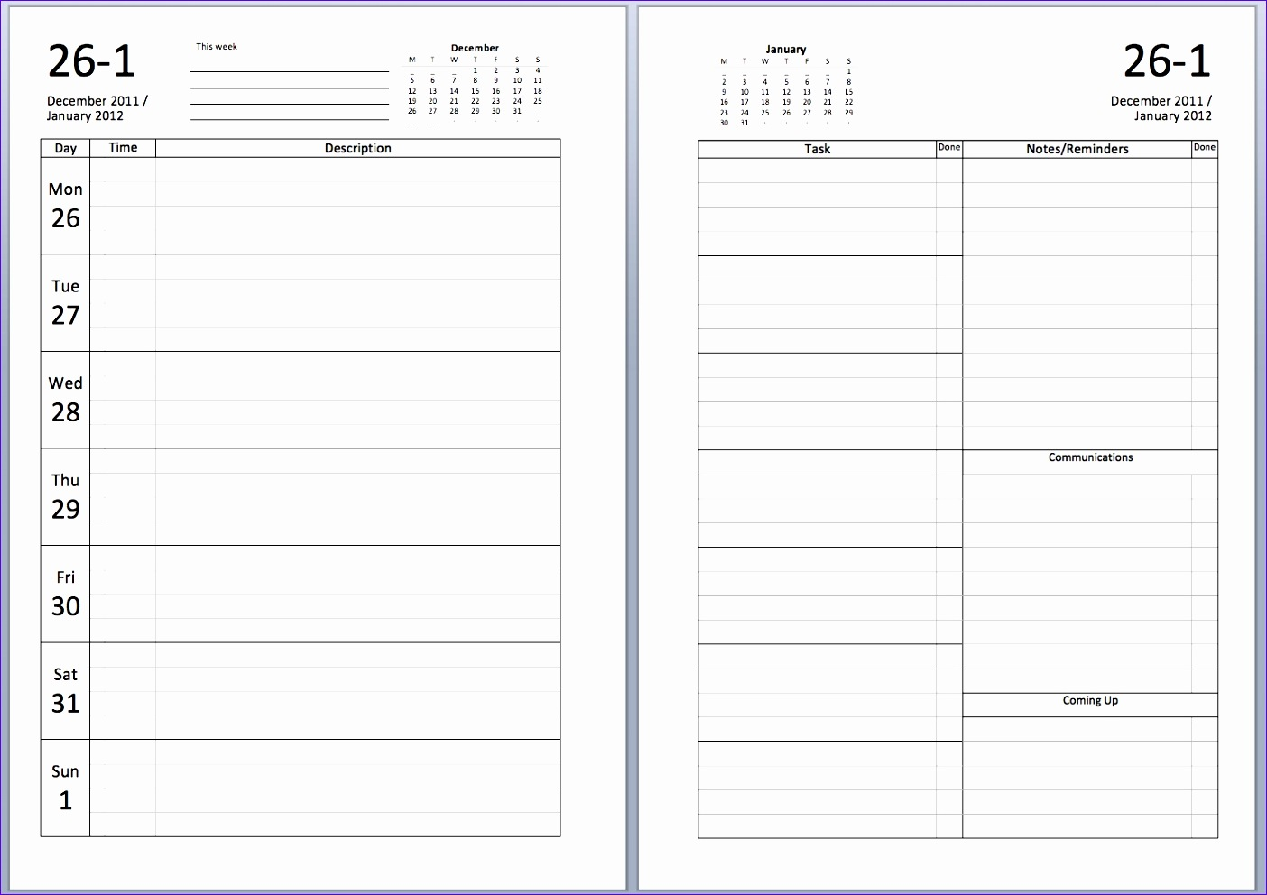 free a5 2012 diary sets to and 1404992