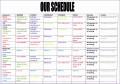 12 Weekly Schedule Excel Template