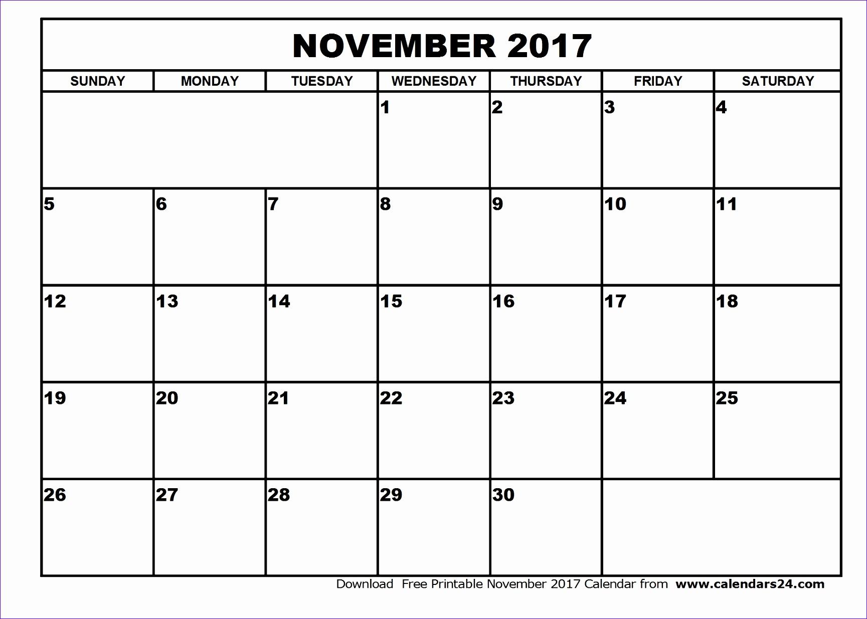 november 2017 calendar 2274