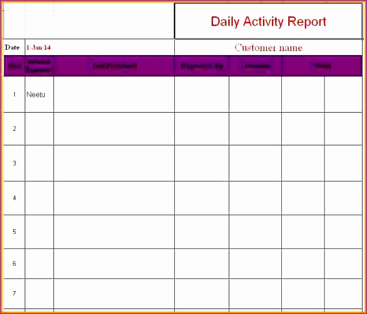 7 daily report format in excel 741633
