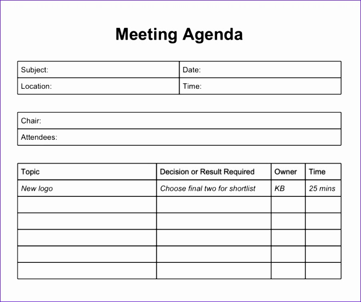 excel meeting agenda template 2 728609