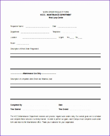 work order form 354437