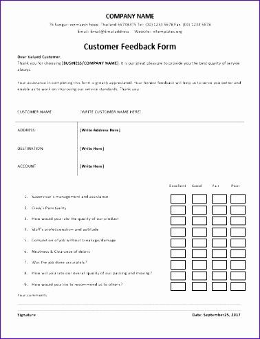 customer feedback forms 378493