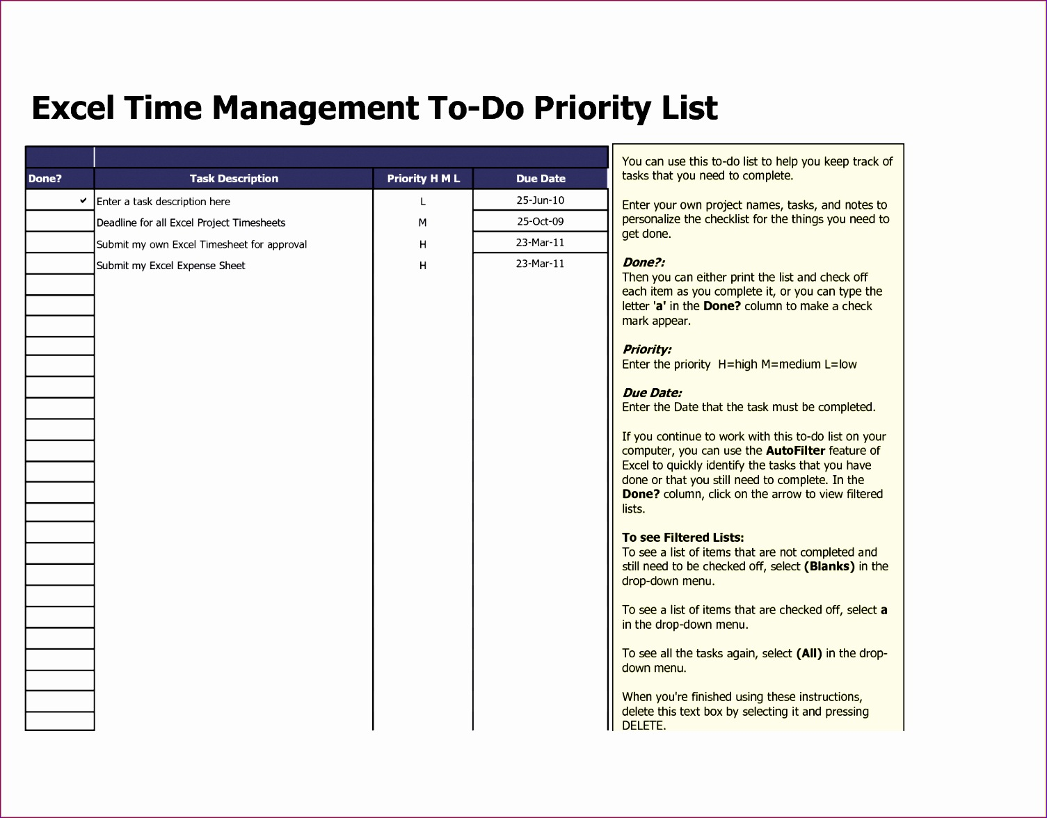 3 excel to do list template 15051176