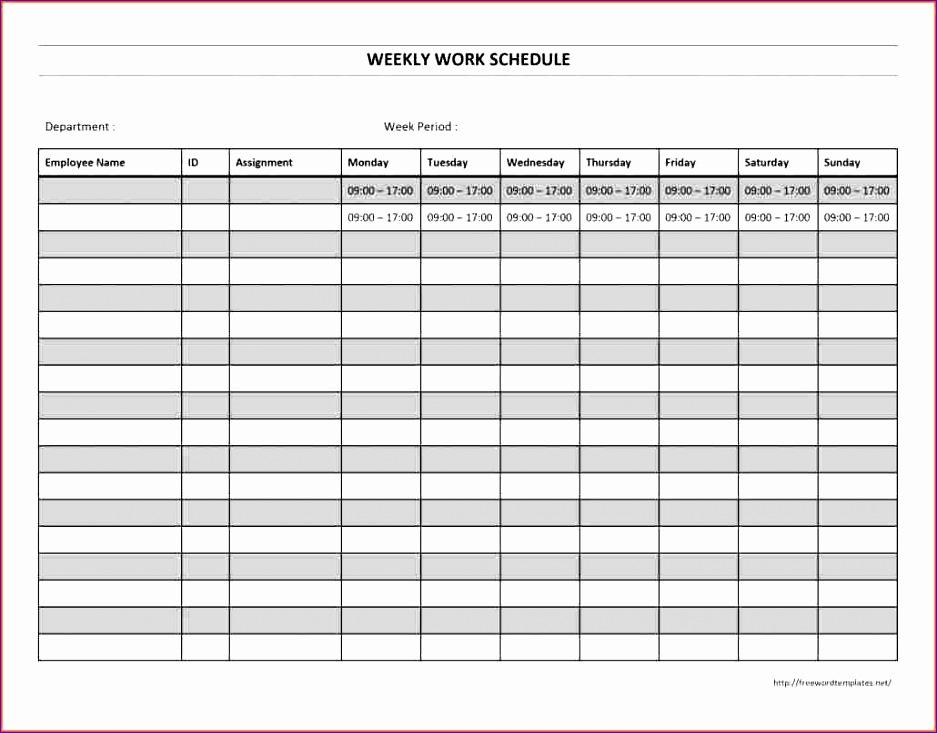 7 work calendar template excel