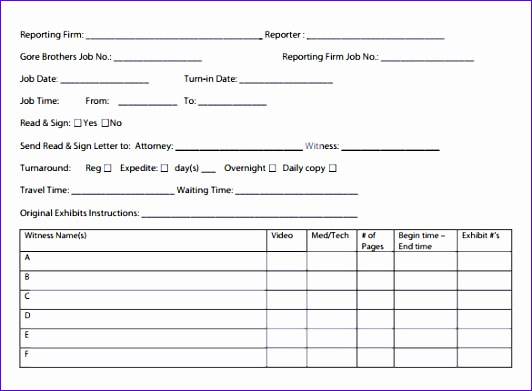 Job Sheet Template Pdf Romeondinez