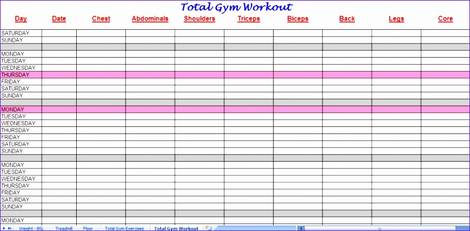 workout schedule template 931457
