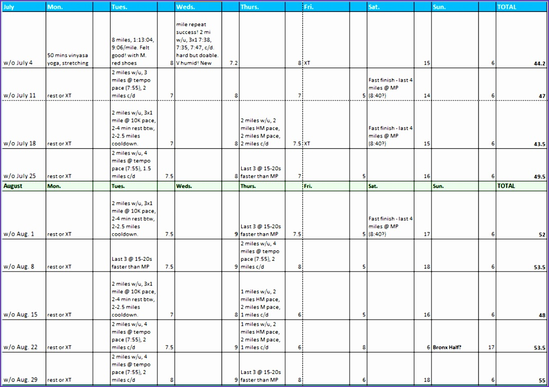excel sheet for workout schedule 1097773