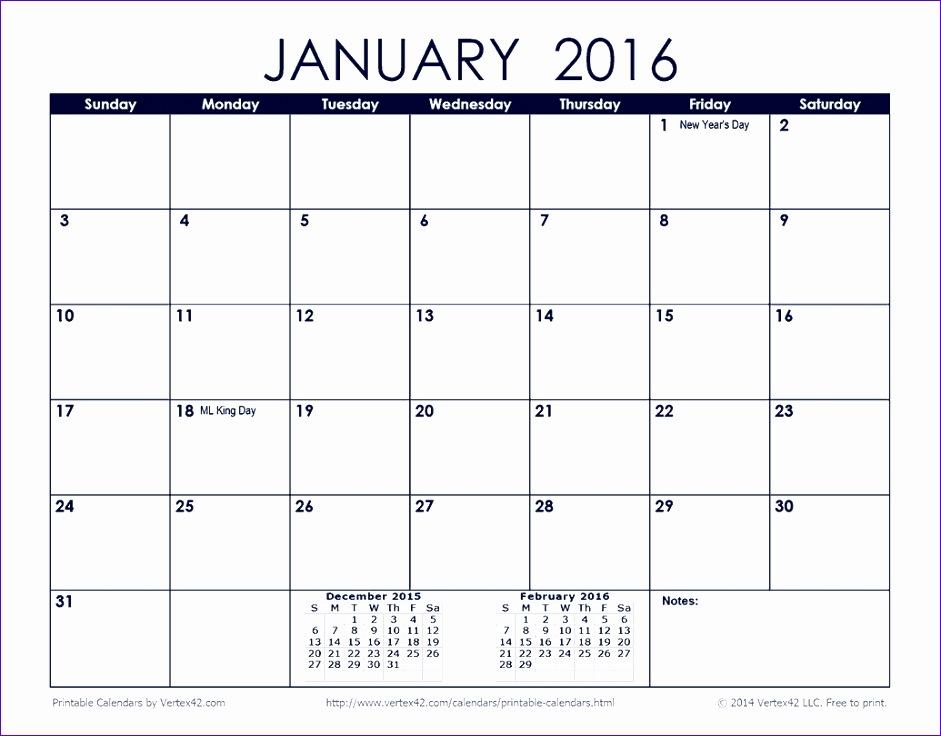 2016 monthly calendar printable 941736