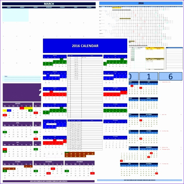 manage annual leave calendar 2016