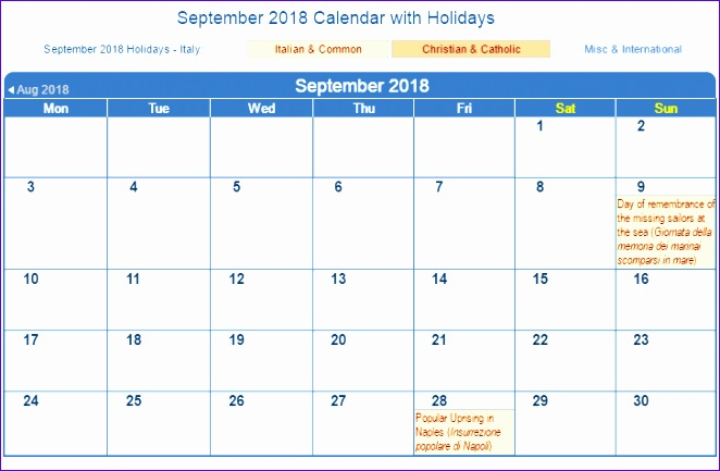 september 2018 calendar with holidays 346 662433