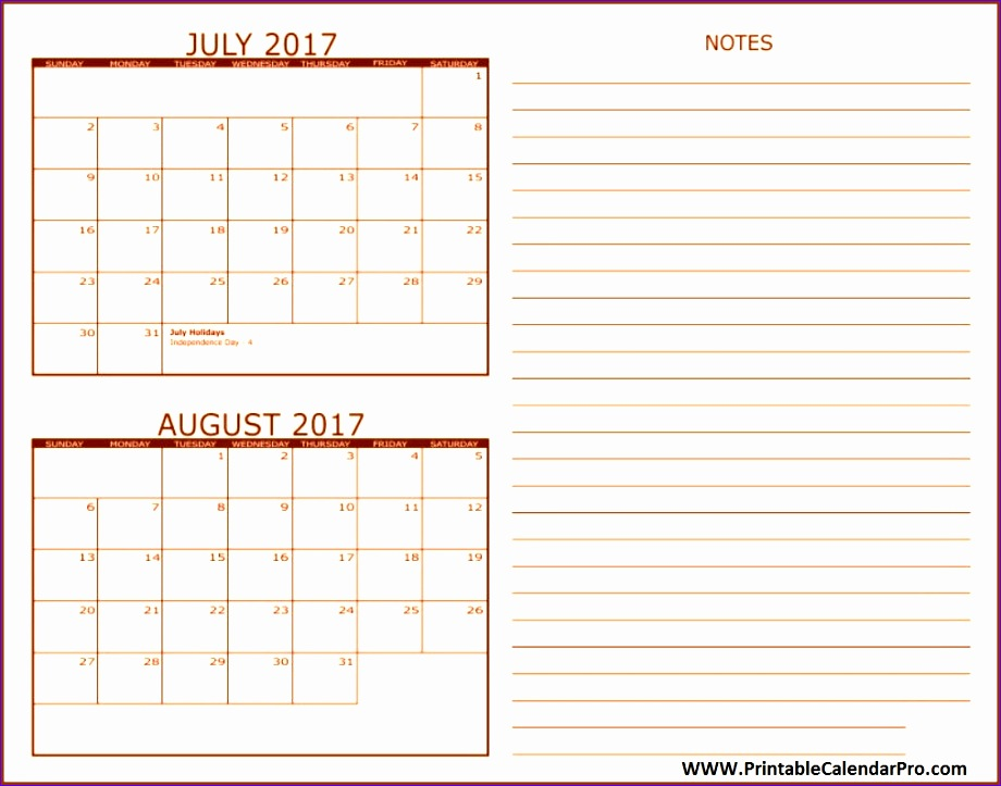 july and august 2017 two months free calendar template 920723