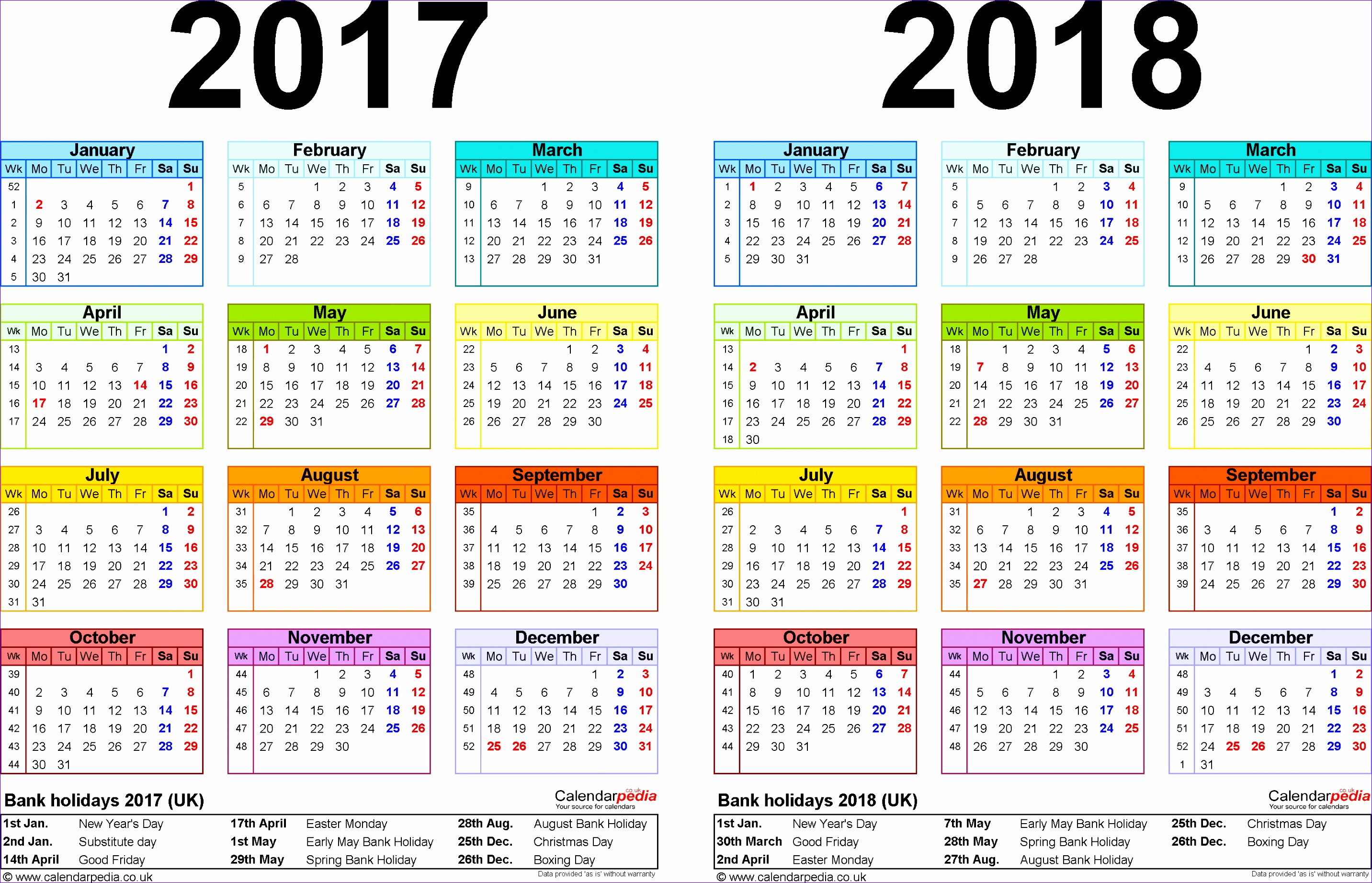 2017 calendar uk 456 28651844