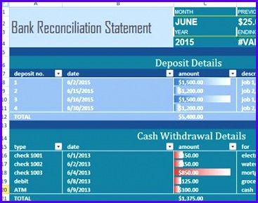 """Check out new work on my Behance portfolio """"Bank Reconciliation Statement Templates Excel"""" Pinterest 367290"""