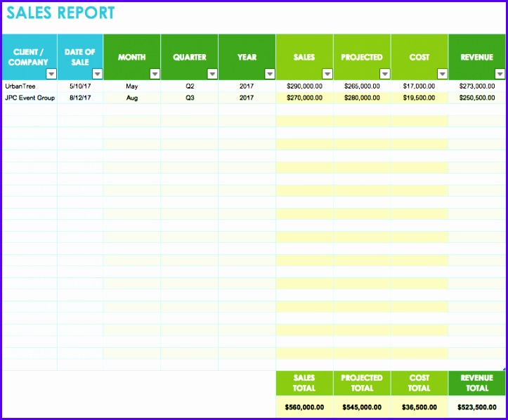sales report template 723598